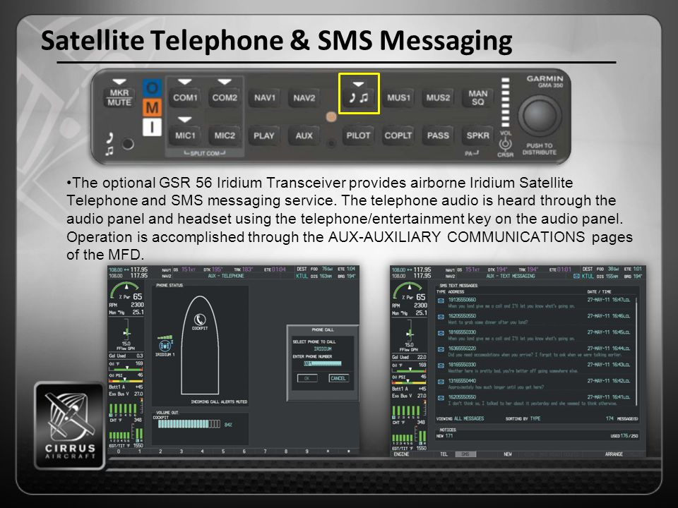Satellite Telephone & SMS Messaging