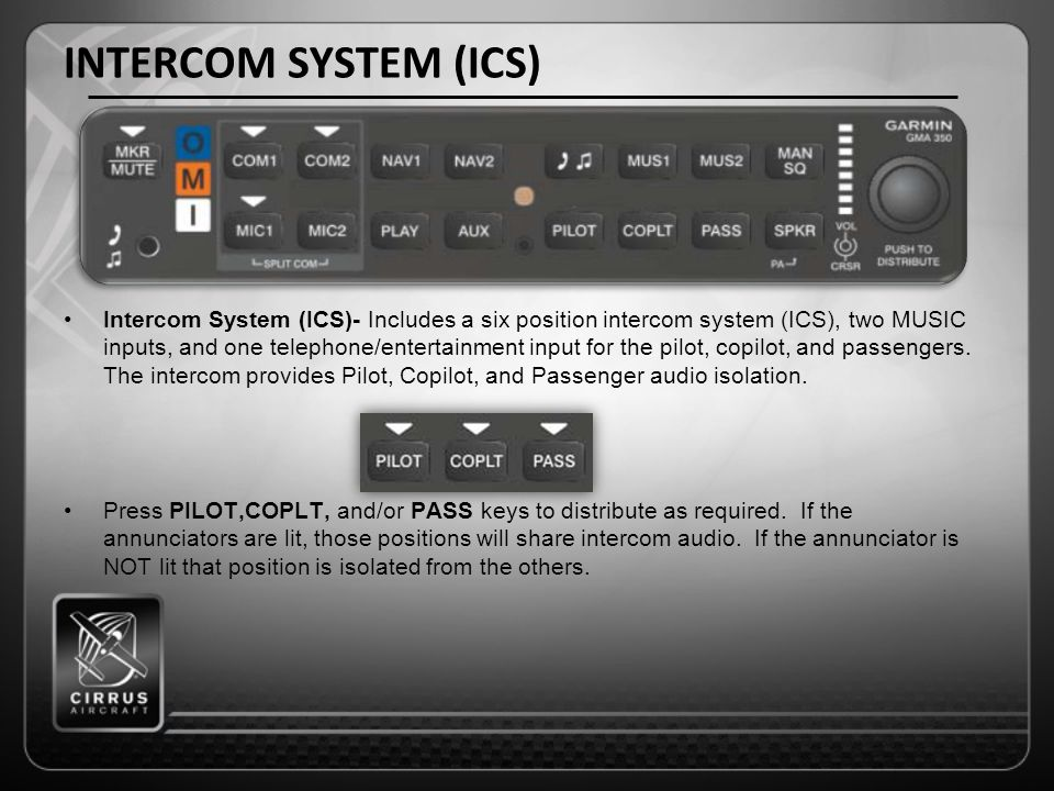 INTERCOM SYSTEM (ICS)