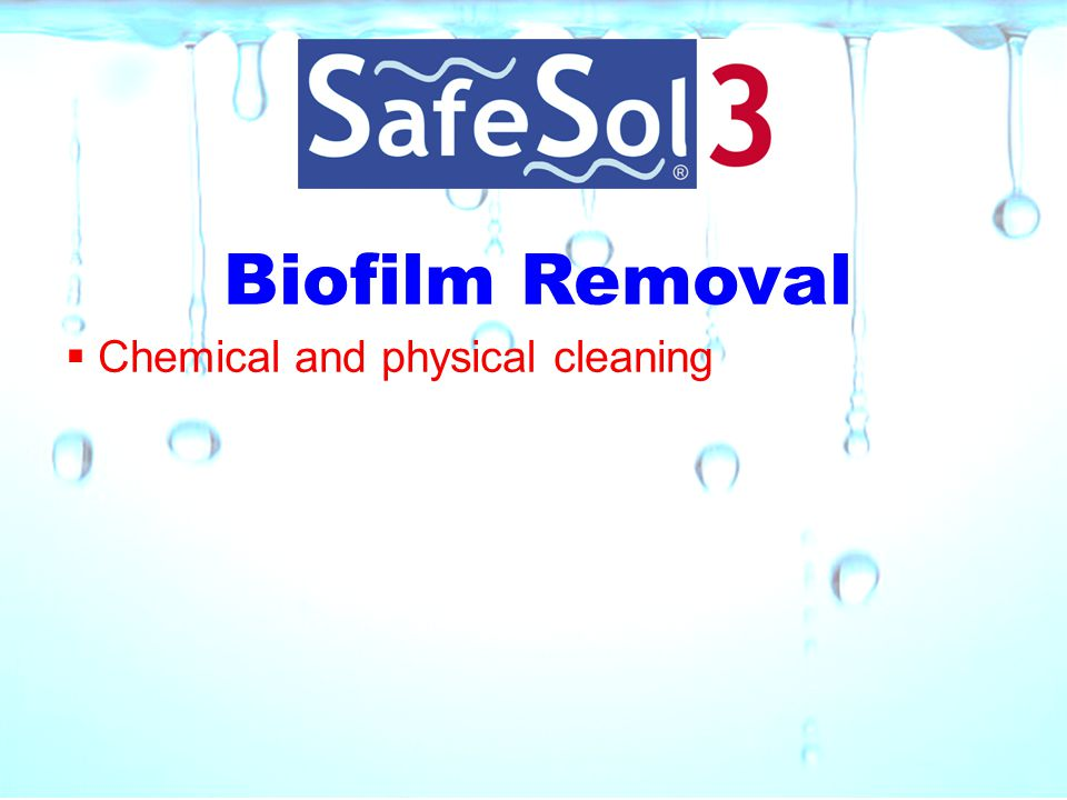Biofilm Removal Chemical and physical cleaning