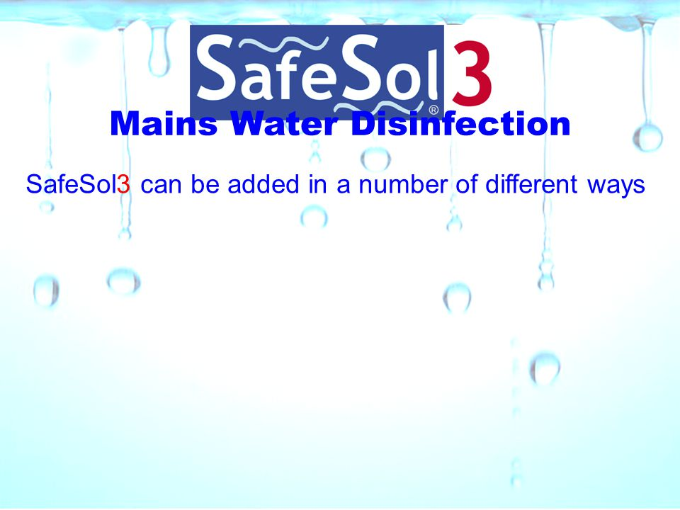Mains Water Disinfection
