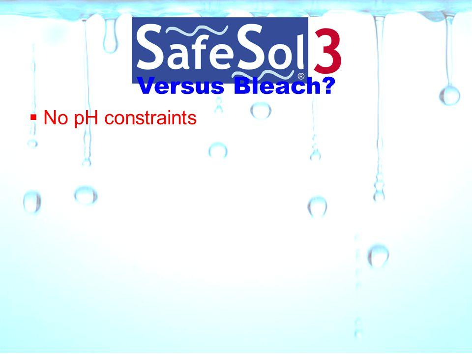 Versus Bleach No pH constraints