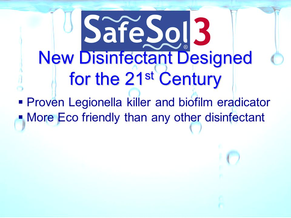 New Disinfectant Designed for the 21st Century
