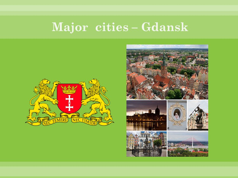 Major cities – Gdansk