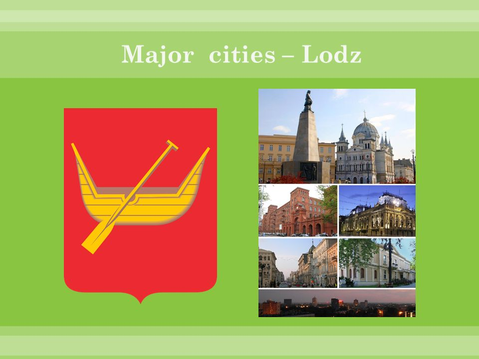 Major cities – Lodz