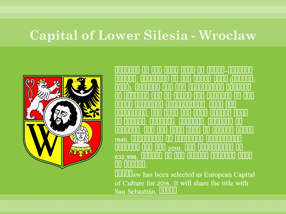 Capital of Lower Silesia - Wroclaw