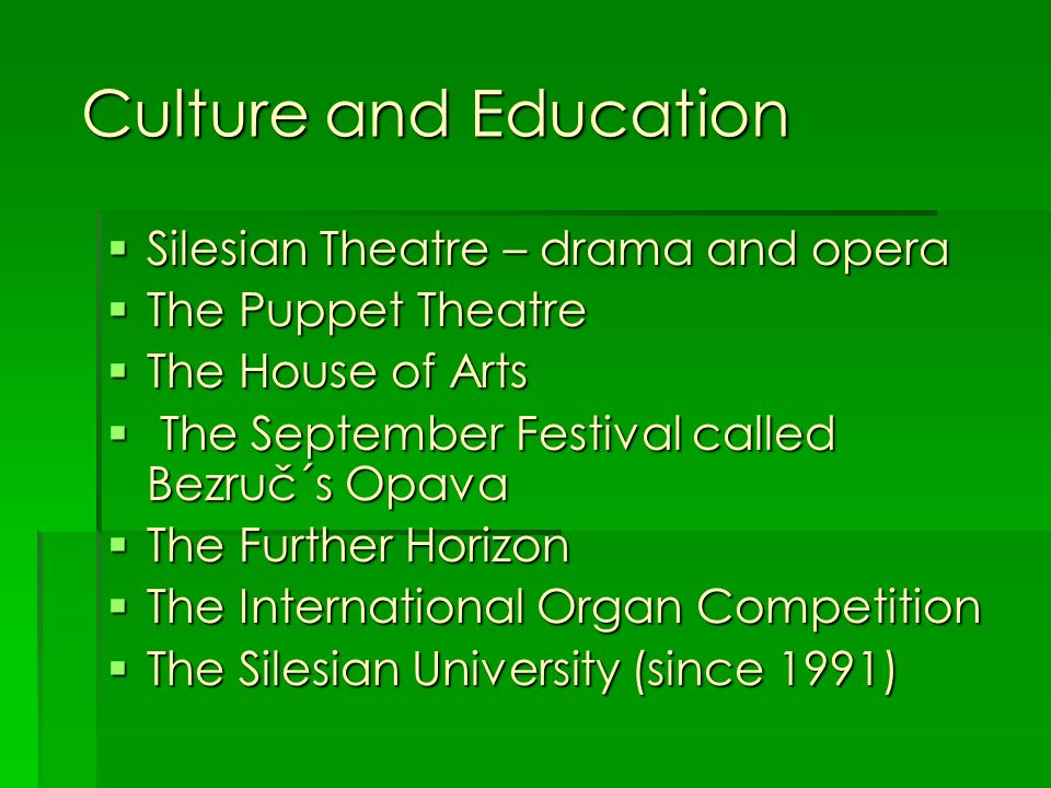 Culture and Education Silesian Theatre – drama and opera