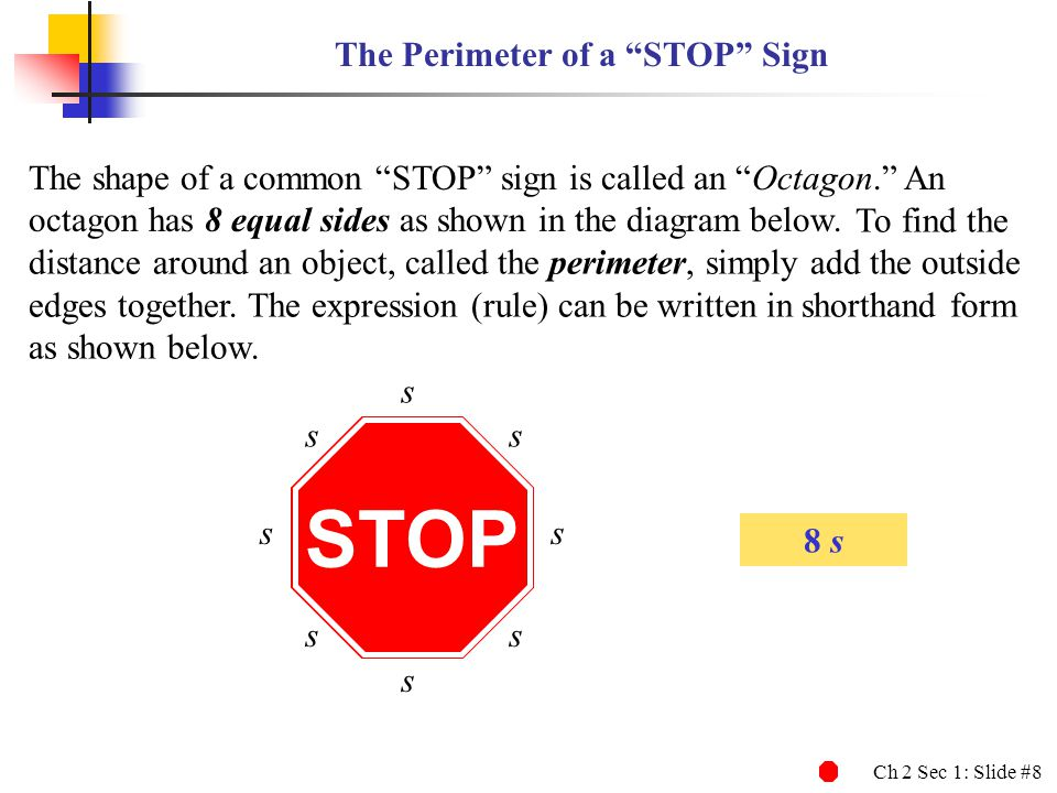 The Perimeter of a STOP Sign