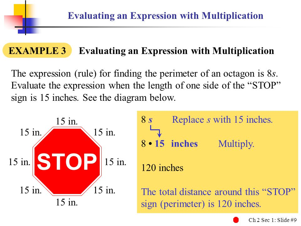 Evaluating an Expression with Multiplication