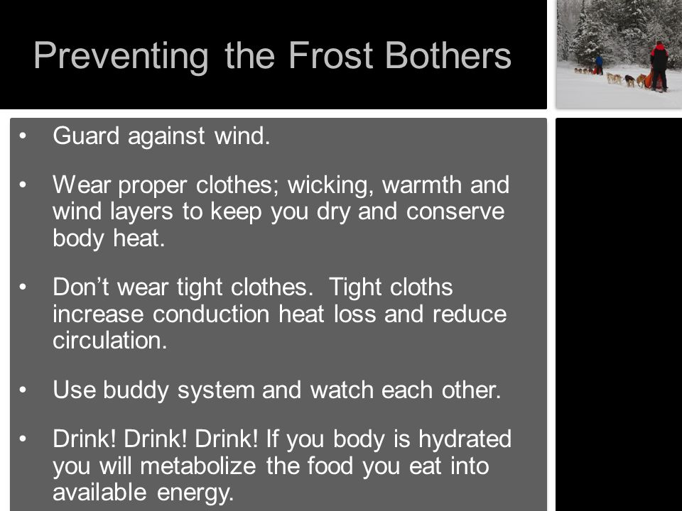 Preventing the Frost Bothers