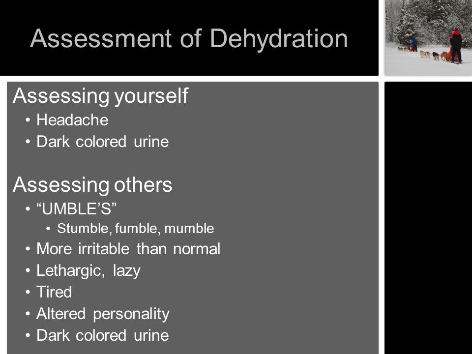 Assessment of Dehydration