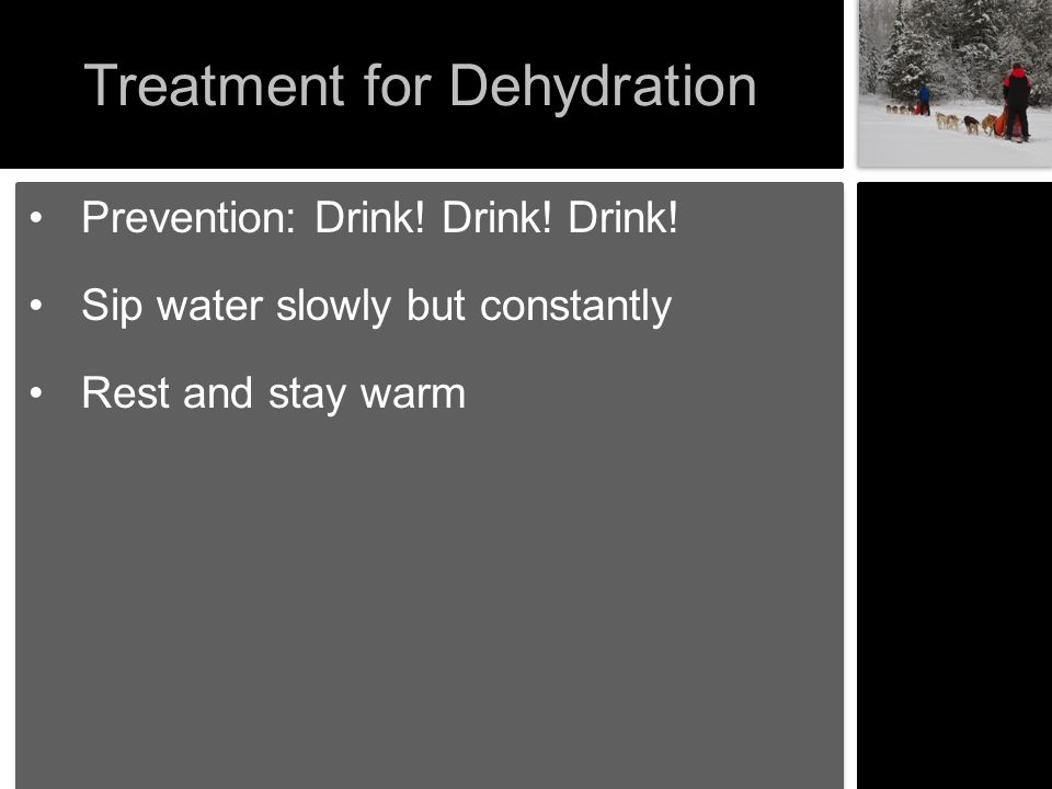 Treatment for Dehydration