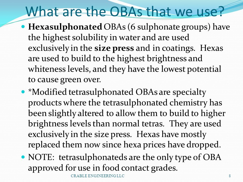 What are the OBAs that we use