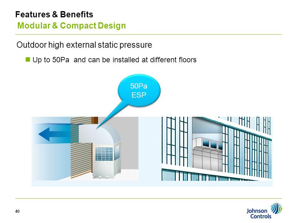 Features & Benefits Modular & Compact Design