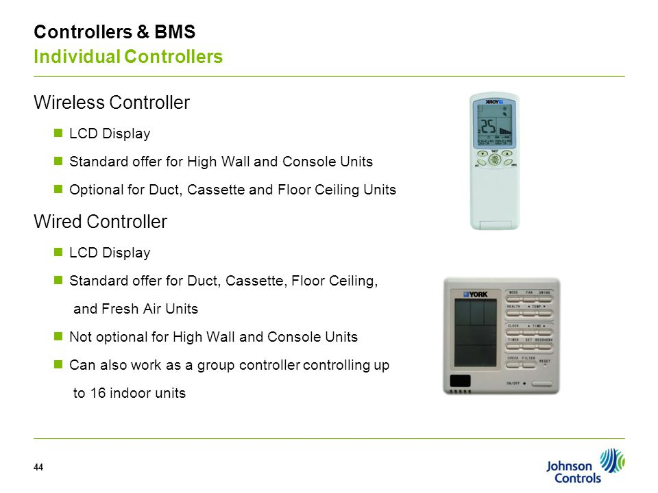 V Controllers & BMS Individual Controllers Wireless Controller