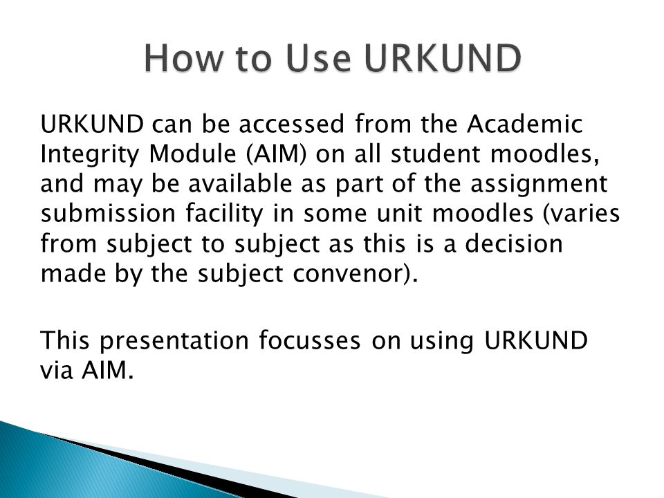 How to Use URKUND