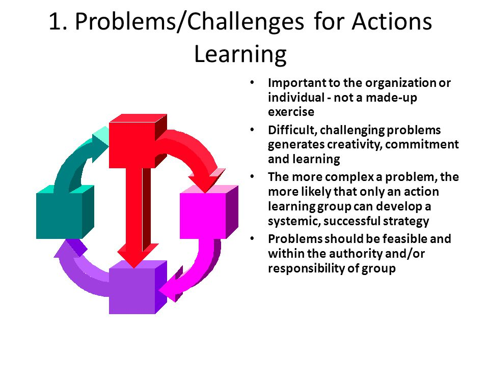 1. Problems/Challenges for Actions Learning
