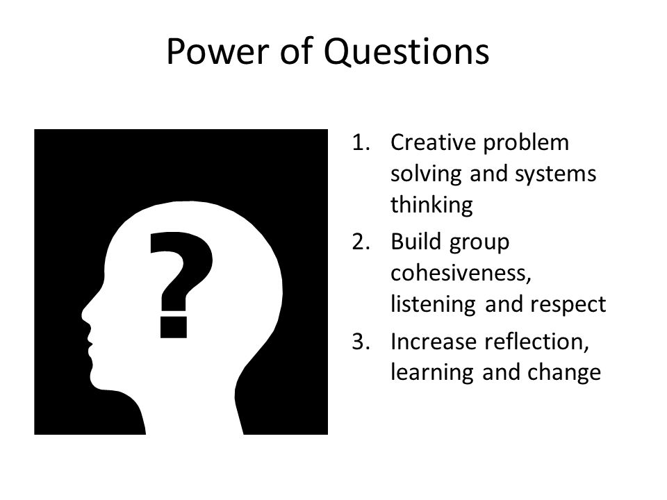 Power of Questions Creative problem solving and systems thinking