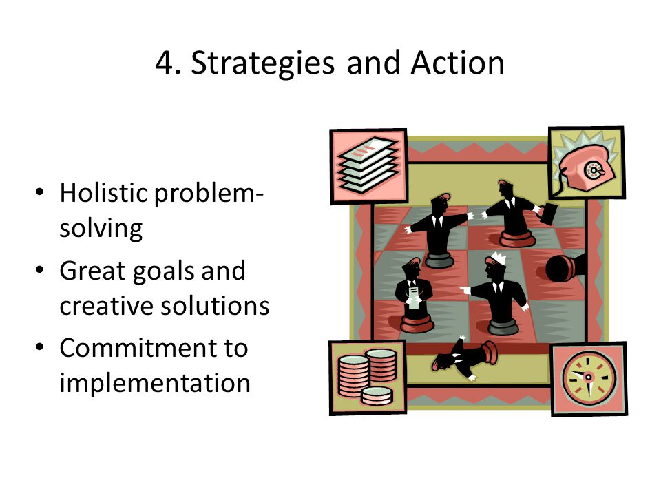 4. Strategies and Action Holistic problem-solving
