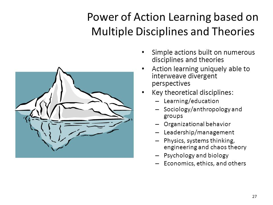 Power of Action Learning based on Multiple Disciplines and Theories