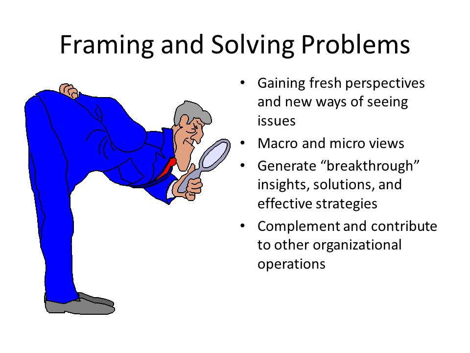 Framing and Solving Problems