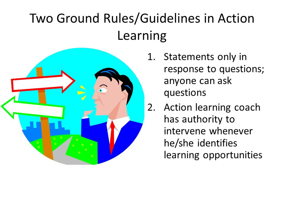 Two Ground Rules/Guidelines in Action Learning