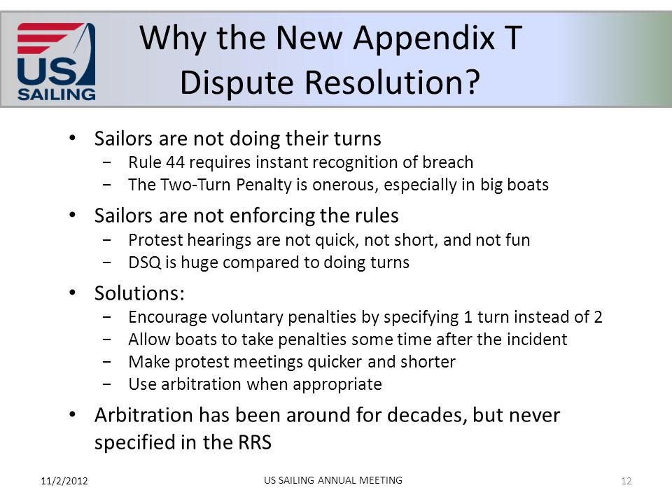 Why the New Appendix T Dispute Resolution