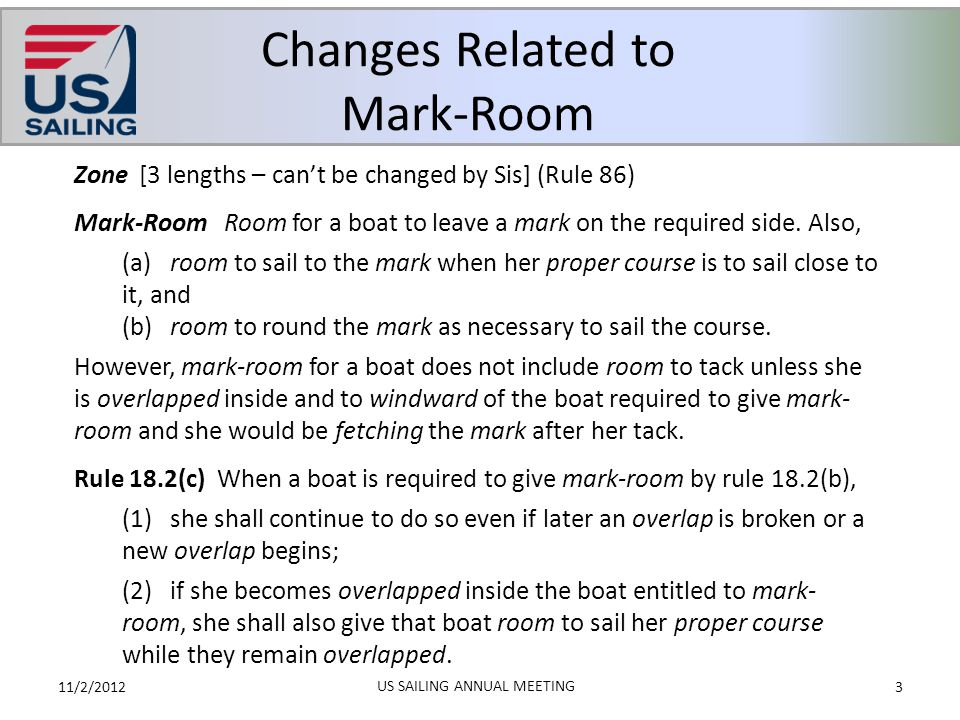 Changes Related to Mark-Room