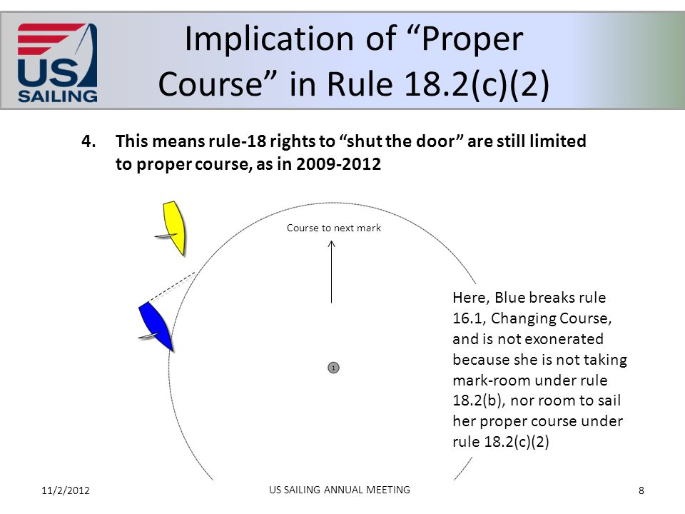 Implication of Proper Course in Rule 18.2(c)(2)