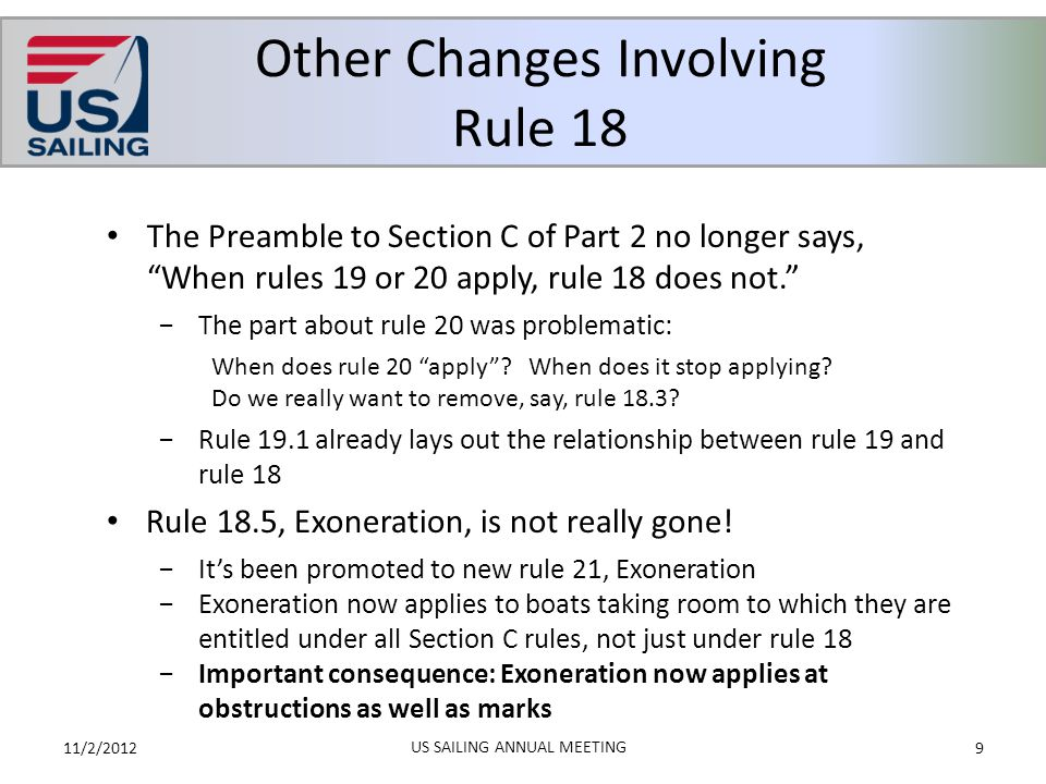 Other Changes Involving Rule 18