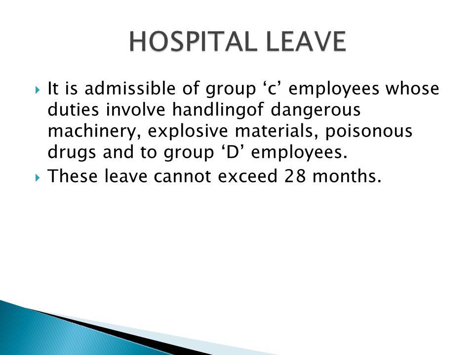 HOSPITAL LEAVE