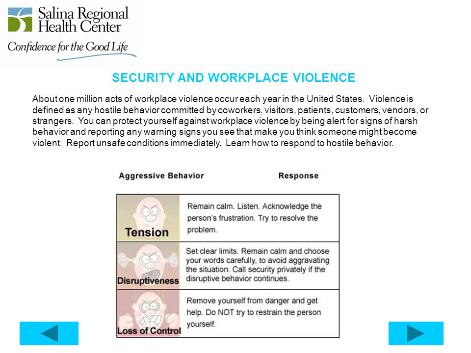 SECURITY AND WORKPLACE VIOLENCE