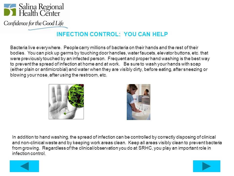 INFECTION CONTROL: YOU CAN HELP
