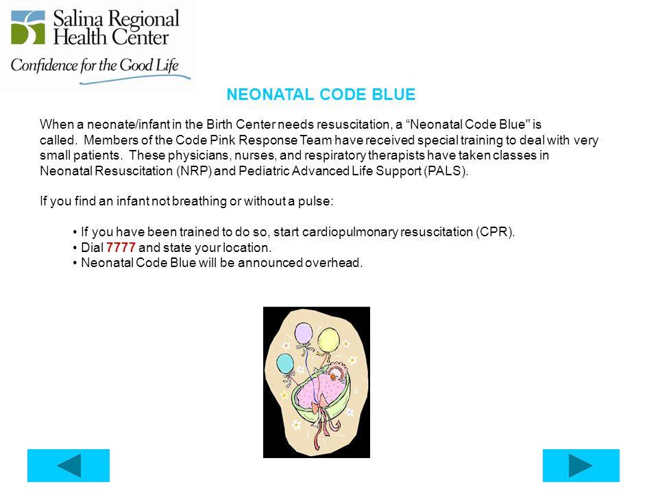 NEONATAL CODE BLUE