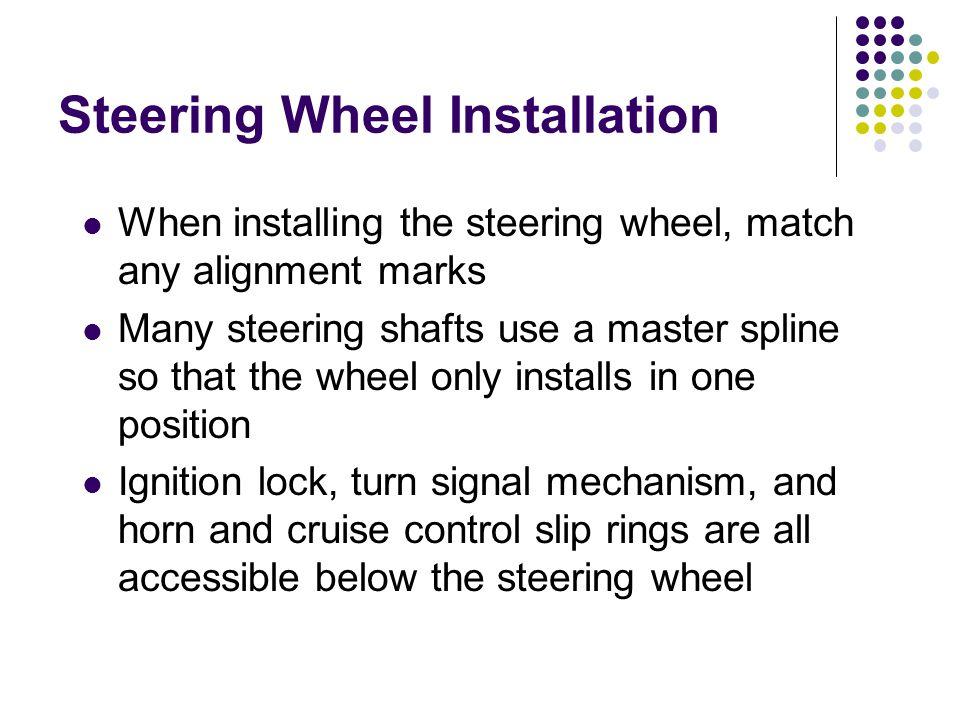 Steering Wheel Installation