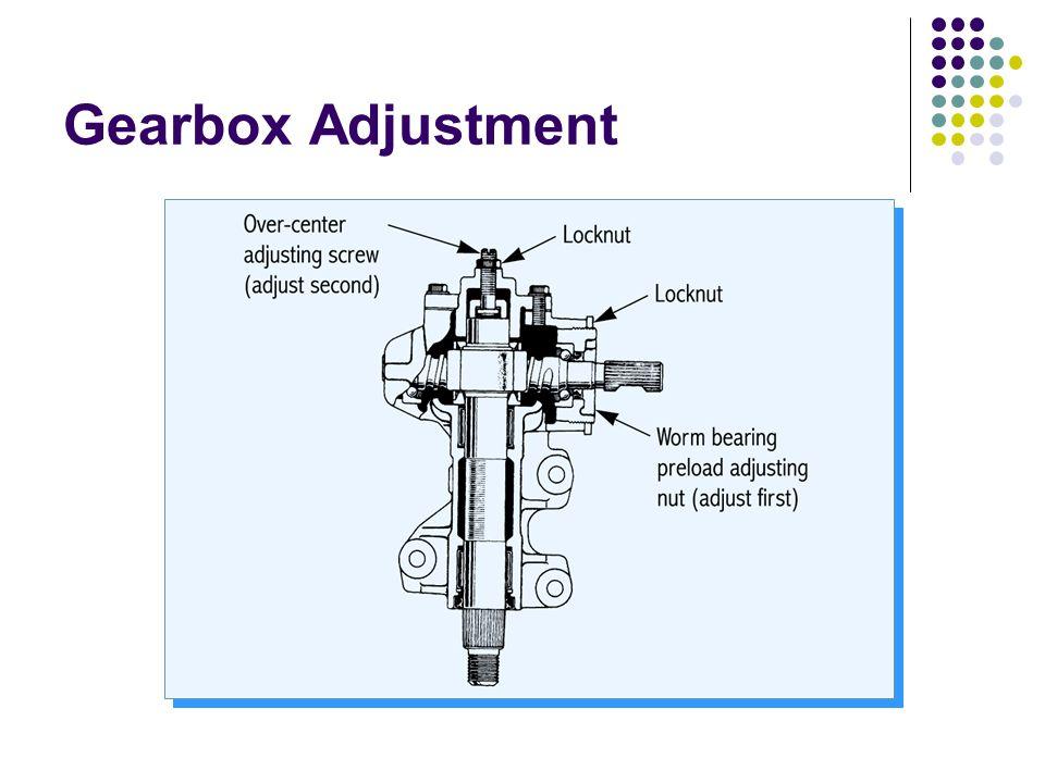 Gearbox Adjustment