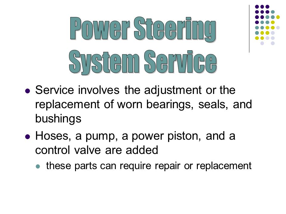 Power Steering System Service
