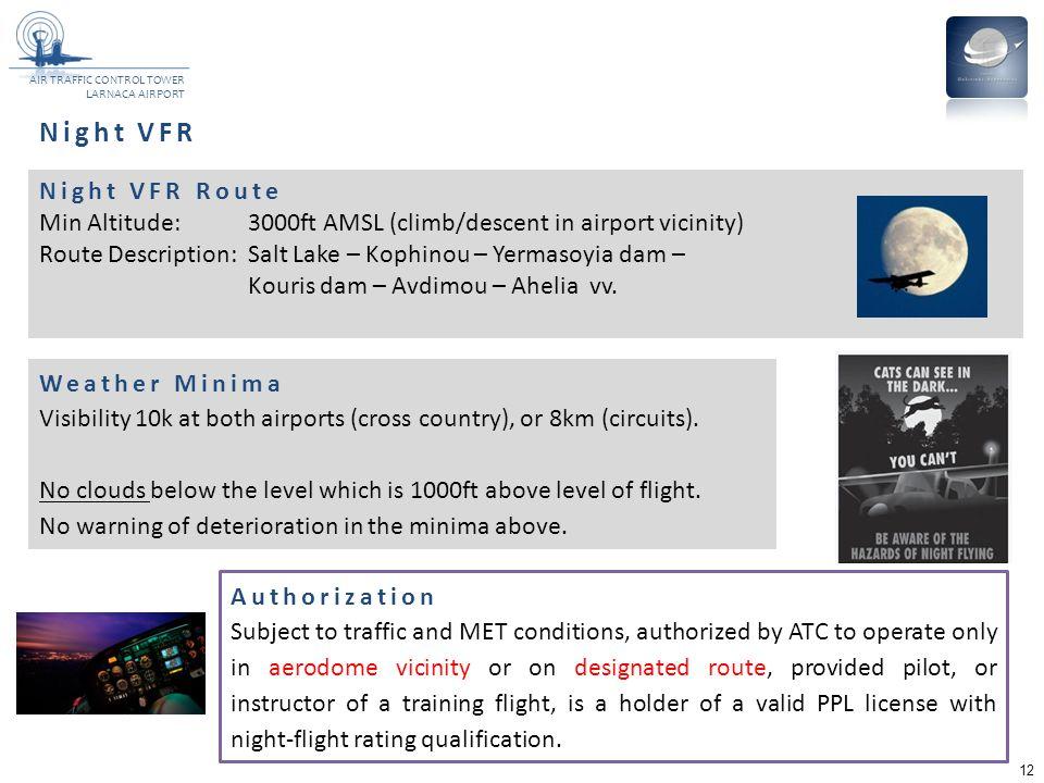 Night VFR Night VFR Route