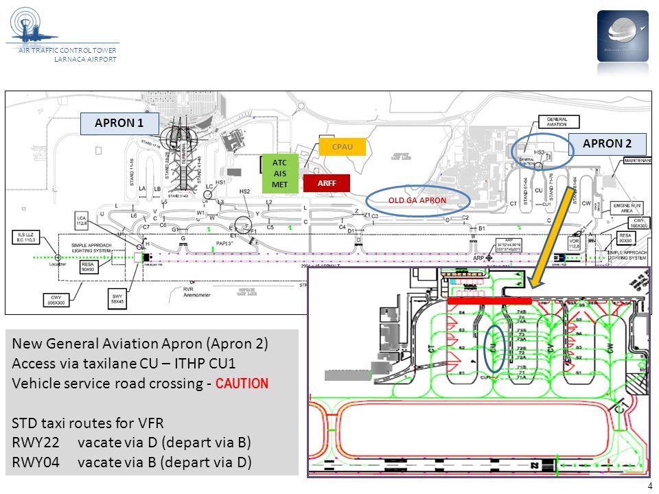 New General Aviation Apron (Apron 2) Access via taxilane CU – ITHP CU1