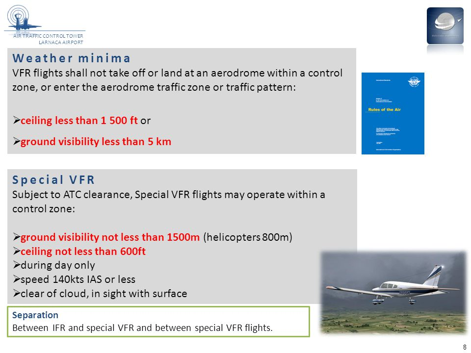 Weather minima Special VFR