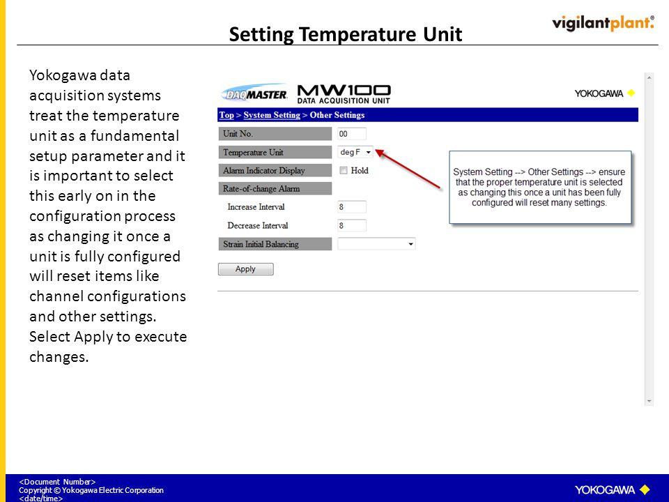 Setting Temperature Unit