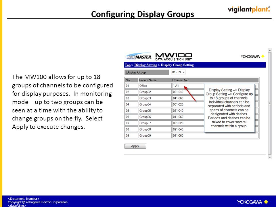 Configuring Display Groups