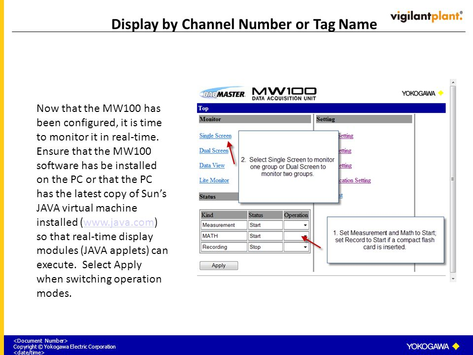 Display by Channel Number or Tag Name