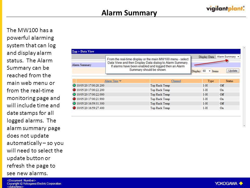 Alarm Summary