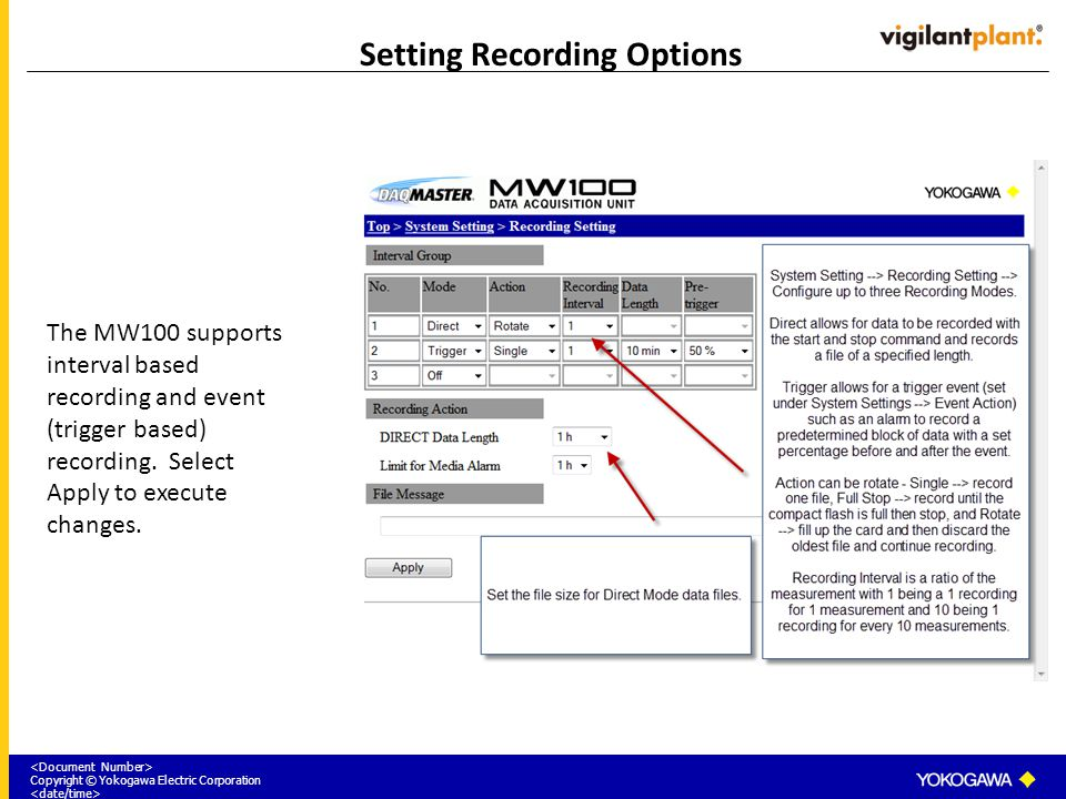 Setting Recording Options