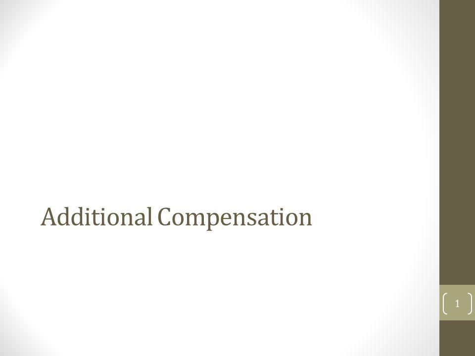 Additional Compensation