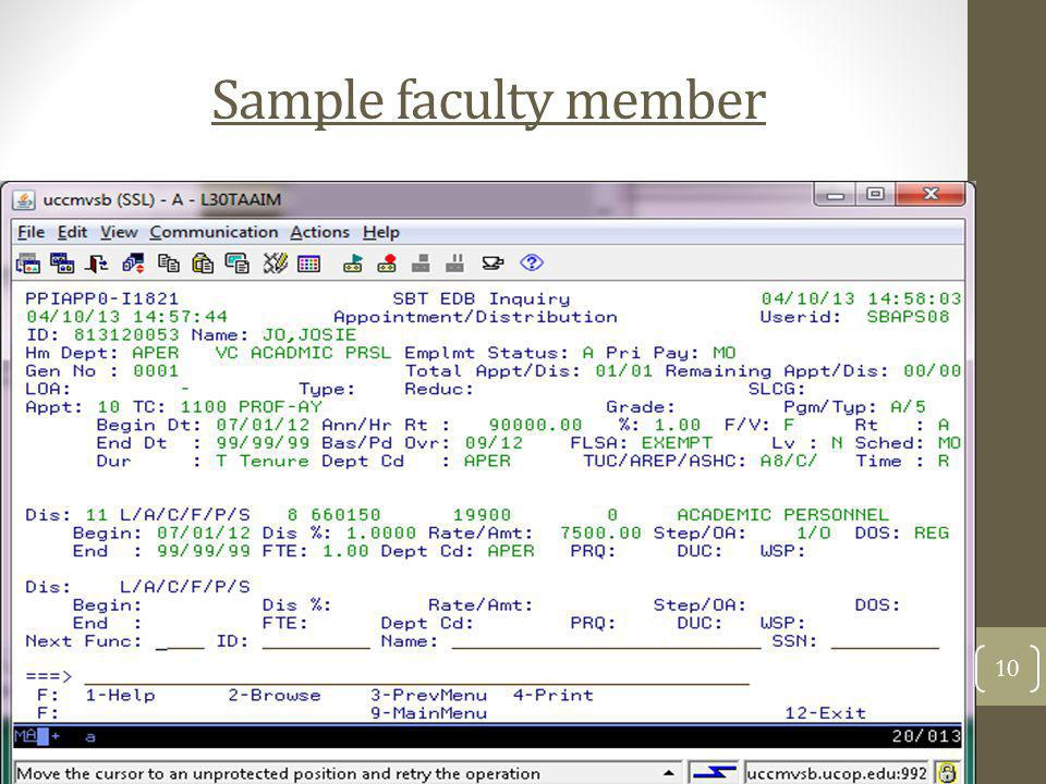 Sample faculty member