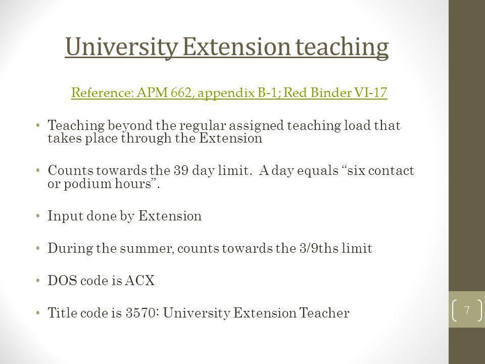 University Extension teaching