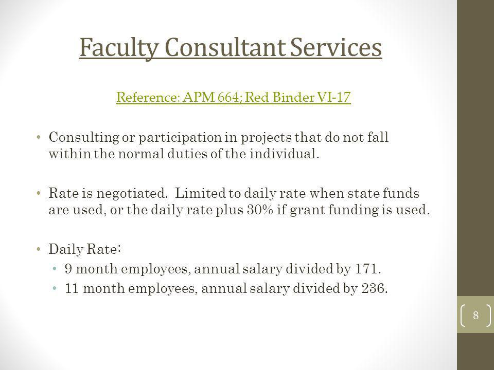 Faculty Consultant Services