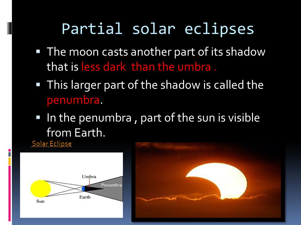 Partial solar eclipses