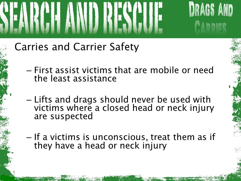 Carries and Carrier Safety